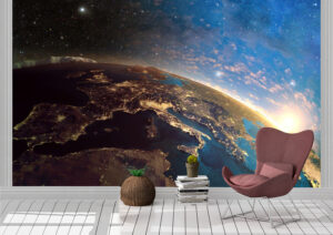 3D Earth in the Morning Wall Mural