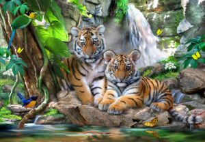 Howard Robinson's Tiger Falls Wall Mural