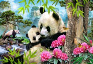 Howard Robinson's Morning Panda Wall Mural