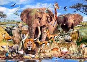 Howard Robinson's African Plains Wall Mural