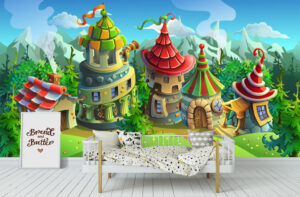 A Fairyland Bright Houses Wall Mural