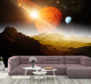A Great View of Planet Saturn Wall Mural