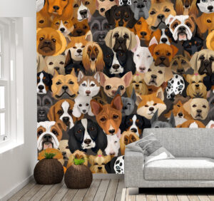 Attractive Breeds of Dogs Wall Mural