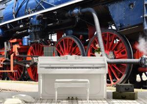 Antique, Train, Steam engine, Wall mural