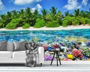 Beautiful Tropical Island Wall Mural