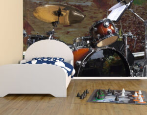 Big Drum Set Wall Mural