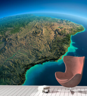 Bright Africa from Space Wall Mural