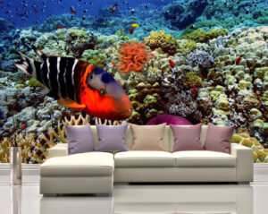 Bright Red Fish Wall Mural