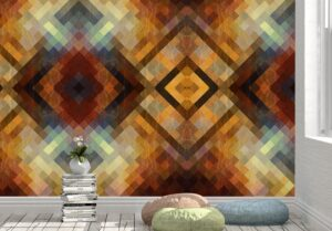 Bright Seamless Retro Pattern Wall Mural