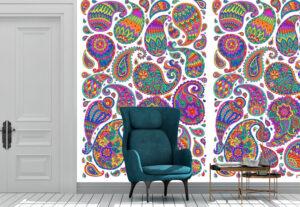 Colorful Paisley Decorative Wall Mural