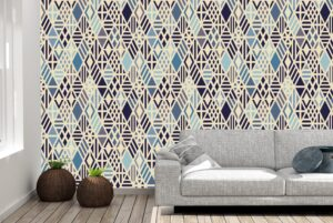 Colorful Rhombus Pattern Wall Mural
