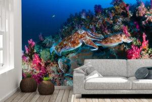 Dark Cuttlefish Wall Mural