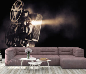Dark Movie Projector Wall Mural