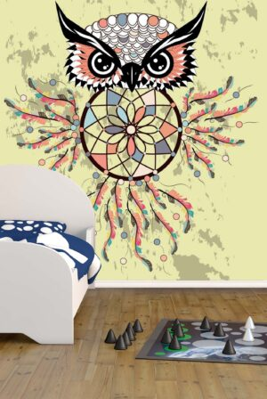 Dream Catcher Calm Owl Wall Mural
