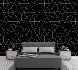 Geometric Black Pattern Wall Mural