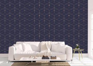 Geometric Gold Texture Wall Mural