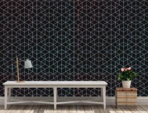 Geometric Pattern of Fine Lines Wall Mural