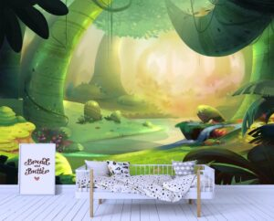 Glowing Primeval ForestWall Mural