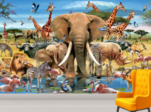 Howard Robinson's African Wild Life Wall Mural