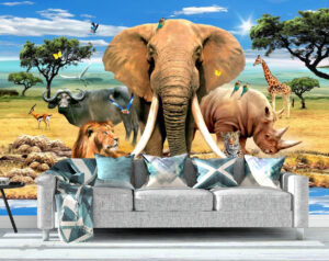 South Africa, Big Animals, wall mural