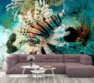Light Dark Sea Fish Wall Mural