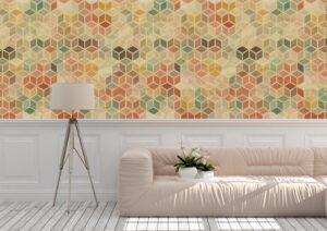 Light Seamless Retro Pattern Wall Mural