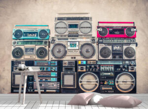 Love Stereo Cassette Tapes Wall Mural