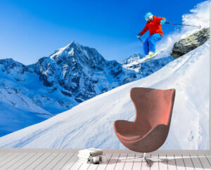 Mountaineer Skiing Sports Wall Mural