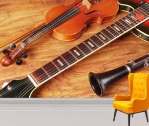 Beautiful Musical Instruments Wall Mural