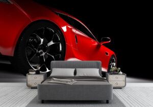 Classic Red Sports Car Wall Mural