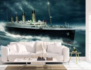 Great Titanic Over The Atlantic Wall Mural