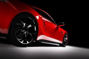 Red Sports Car Wall Mural