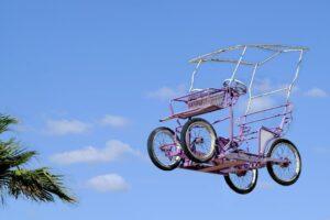 Quadricycle Bike in the Sky Wall Mural