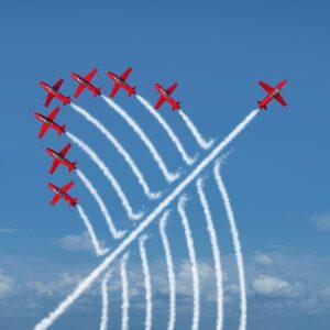 Acrobatic Jets Wall Mural