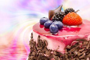 Birthday Fun Fruit Cake Wall Mural