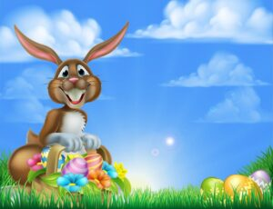 Happy Brown Easter Bunny Wall Mural