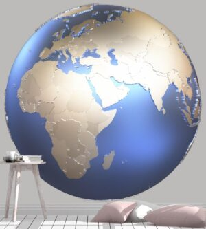 3D Illustration Isolated Globe Wall Mural