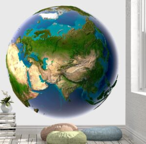 Earth with Transparent Water Wall Mural