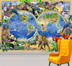 Howard Robinson's Rare and Endangered Wall Mural
