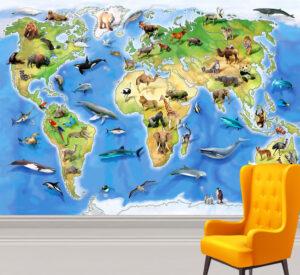 Howard Robinson's World Animal Atlas Wall Mural