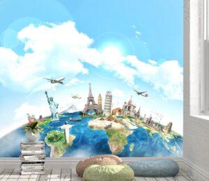 Travel around the World Wall Mural