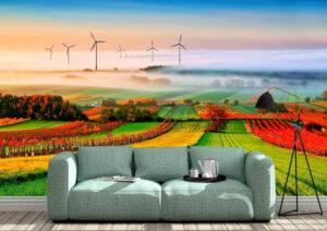 Beautiful Country Field Wall Mural