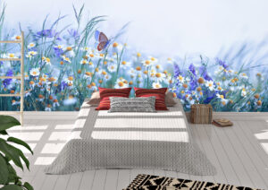 Beautiful Wild Flowers Chamomile Wall Mural