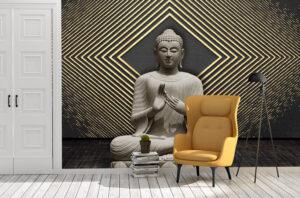 Meditating Calm Buddha Wall Mural